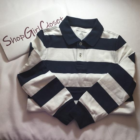 Amazon Essentials...bl/wh Stripped Shirt..Sz S